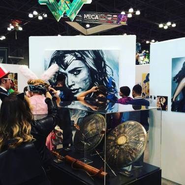 Wonder Woman booth at NYCC. Oct. 2016. Photo by Michele Witchipoo