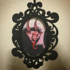 Plain black Krampus ornament created by Michele Witchipoo, Nov. 2016.