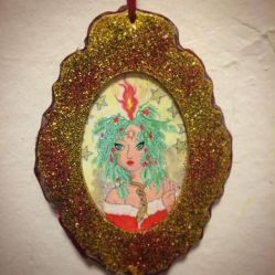 Hermetic Holiday ornament created by Michele Witchipoo Dec. 2016.