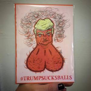 trumpsucksballsgreetingcard