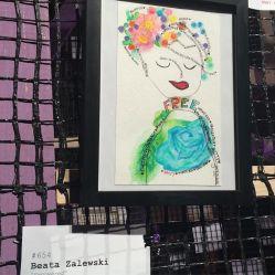 Art by Beata Zalewski as seen at Knockdown Center for the Nasty Women art exhibition