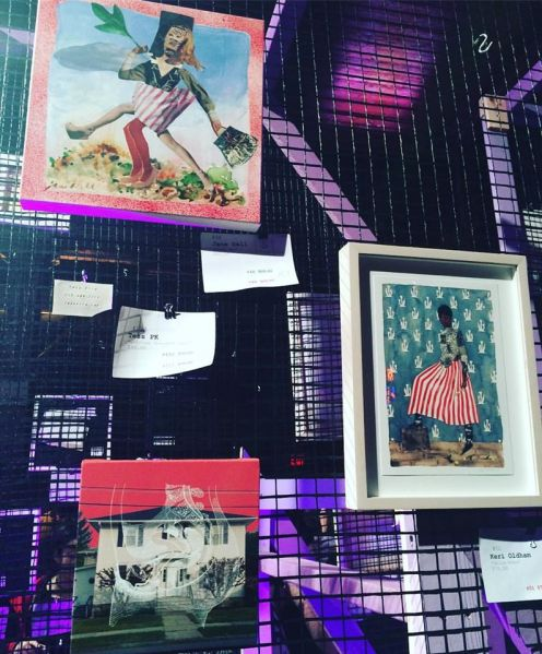 Various artwork. As seen at Knockdown Center for the Nasty Women art exhibition