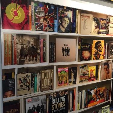Replica of a book/music shelf. Art On Paper. March 2017.