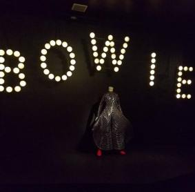 Inside the Brooklyn Musuem for the Bowie Is exhibit. Photo taken by Natasha Michalina, July 2018.
