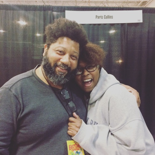 Comic book artist Paris Cullins and his love at East Coast Comic Con 2018.