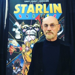 Comic book artist Jim Starlin at East Coast Comic Con April 2018.