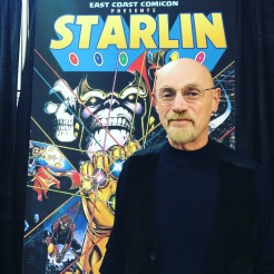 Comic book artist Jim Starlin at East Coast Comic Con April 2018.