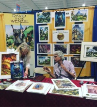 Artist/Illustrator David Thorn Wenzel at Terrificon 2018.