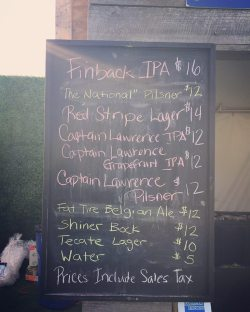 Beer prices at Forest Hills Stadium, Sept. 30th 2018.