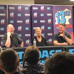 Flash Gordon: Stars of An American Classic panel at East Coast Comic Con 2019. Sam Jones and Melody Anderson.